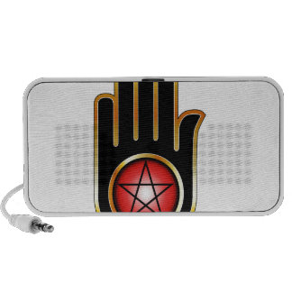 Hand with a Pentacle Notebook Speakers