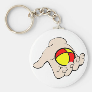 Hand With Juggling Ball Keychain