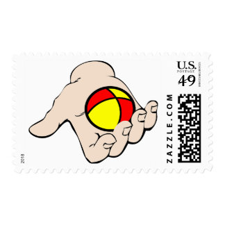 Hand With Juggling Ball Postage