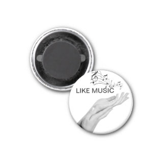 Hand with musical notes refrigerator magnet