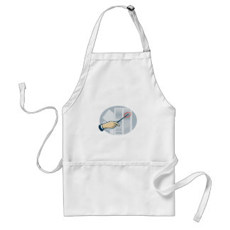 Hand With Pointer Pointing Data Sheet Retro Adult Apron