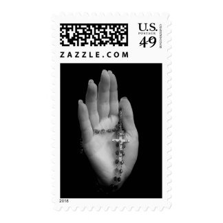 Hand with Rosary Beads Postage