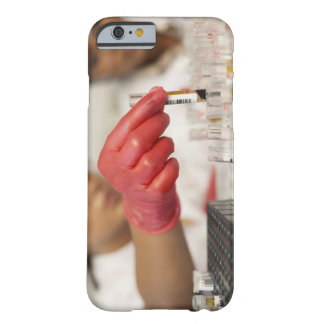 Hand with test tubes barely there iPhone 6 case