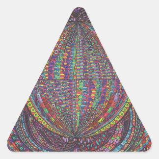 Hand Woven Design Triangle Sticker