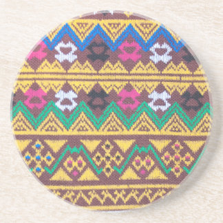 Hand Woven Thai Silk Pattern Drink Coaster