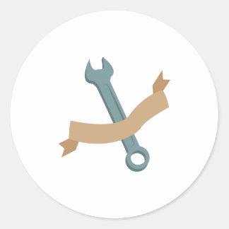 Hand Wrench Classic Round Sticker
