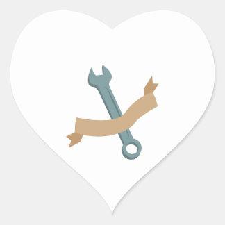 Hand Wrench Heart Sticker