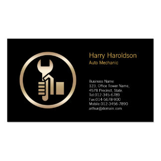 Hand Wrench Icon CarMechanic Business Card