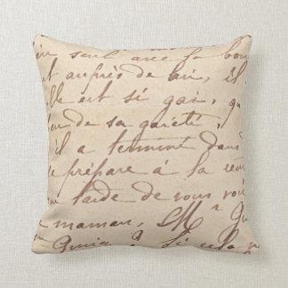 Hand writing pillow