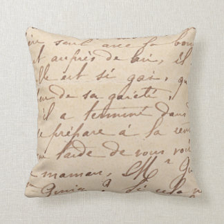 Hand writing throw pillow