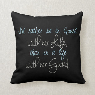 Hand written colorguard quote   Throw Pillow
