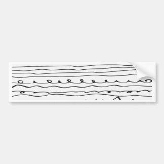 hand written lines bumper sticker