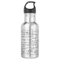 Hand Written Math Equations // Water Bottle