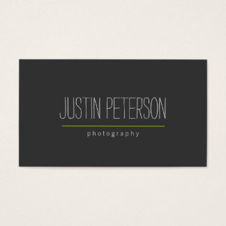 Hand-Written Text II Photographer's Business Card