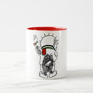 Handala (niño palestino) en la taza