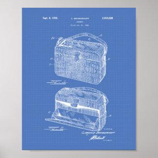 Handbag 1936 Patent Art Blueprint Poster
