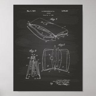 Handbag 1936 Patent Art Chalkboard Poster