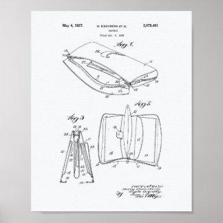Handbag 1936 Patent Art White Paper Poster