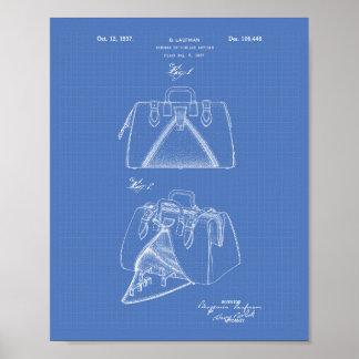 Handbag 1937 Patent Art Blueprint Poster