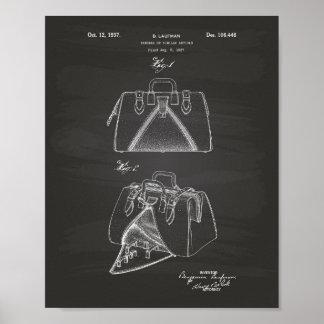 Handbag 1937 Patent Art Chalkboard Poster