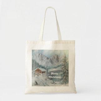 Handbag Ann Hayes Painting Bavarian Snow Dream Tote Bag