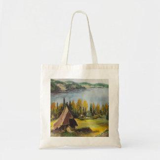Handbag Ann Hayes Painting Chalet On The Lake Tote Bag