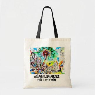 Handbag, grocery bag, artists original painting,