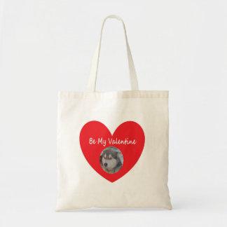 Handbag Husky Red Heart Be My Valentine