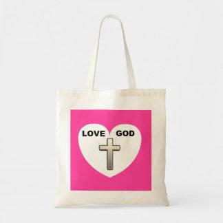 Handbag Love God Heart Cross Pink