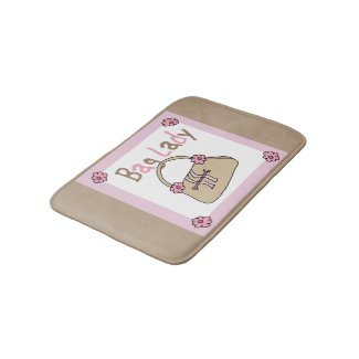 Handbag Lover Fashionista Bath Mats
