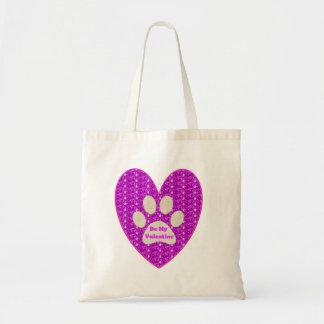Handbag Paw Heart Pink White Be My Valentine