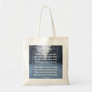 Handbag Poem Snow Journey By Ladee Basset