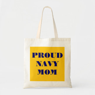 Handbag Proud Navy Mom Tote Bag
