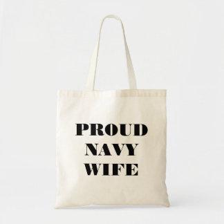 Handbag Proud Navy Wife