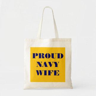Handbag Proud Navy Wife Tote Bag