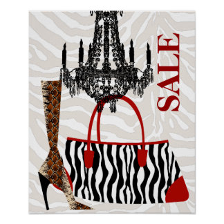 Handbag Purse Poster Boot Zebra Leopard Leather