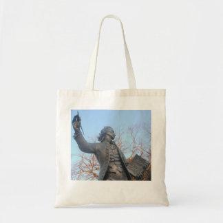 Handbag Thomas Paine Statue Holding RIghts Of Man