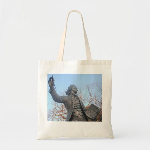 Handbag Thomas Paine Statue Holding RIghts Of Man Tote Bags