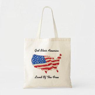 Handbag USA Flag God Bless America Tote Bag