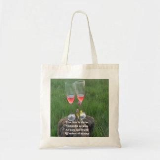 Handbag Wine Poem By Ladee Basset Tote Bag