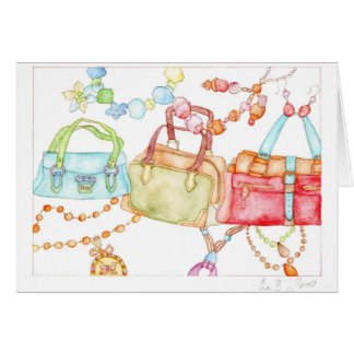 Handbags Fair greeting card