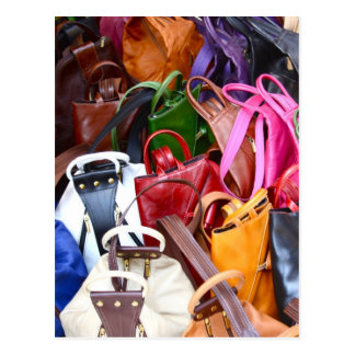 Handbags in Beautiful Colours Post Card