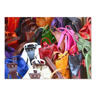 Handbags in Leather Invitation