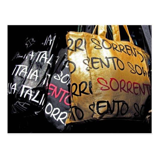 Handbags in Sorrento, Italy Postcard