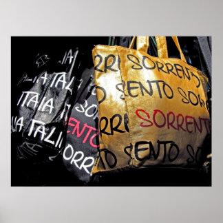 Handbags in Sorrento, Italy Poster