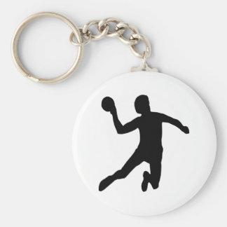 Handball Basic Round Button Keychain