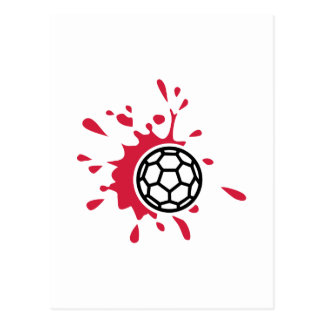 Handball blood postcard