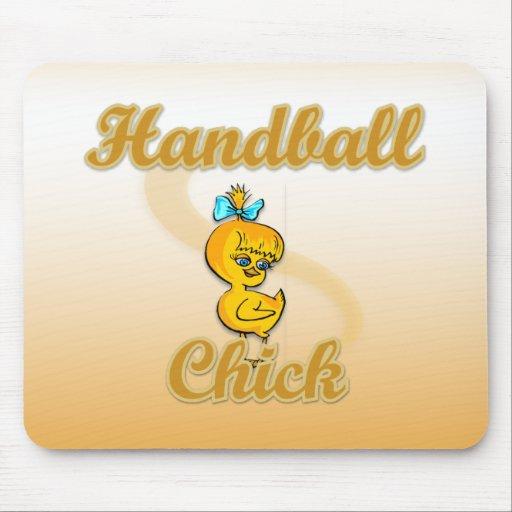 Handball Chick Mouse Pad