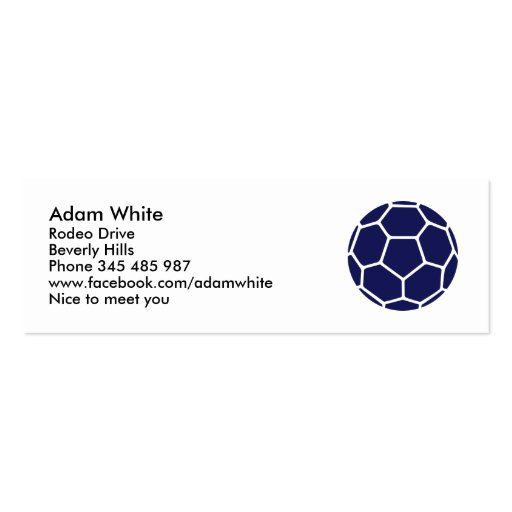 Handball Double-Sided Mini Business Cards (Pack Of 20)