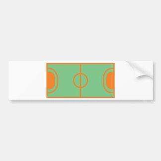 handball field icon bumper sticker